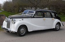 1951 Austin Sheerline Limousine classic wedding car from East Riding Vintage Wedding Car Hire