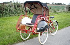 Indonesian Rickshaw from East Riding Vintage Wedding Car Hire